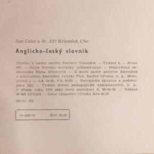 antikvární kniha Anglicko český slovník, 1970