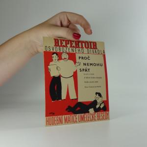 náhled knihy - Repertoir osvobozeného divadla  3. : Proč nemohu spát, blues a píseň z revue Robin Zbojník