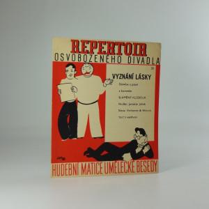 náhled knihy - Repertoir osvobozeného divadla 20. : Vyznání lásky, slowfox a píseň z komedie Slaměný klobouk