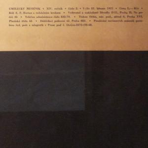 antikvární kniha Umělecký měsíčník (5.), 1951