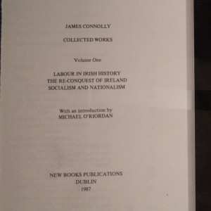 antikvární kniha Collected works, Volume One: Labour in Irish history the re-conquest of Ireland socialismn and nationalism, 1987