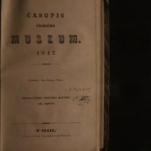 antikvární kniha Časopis českého museum 1847, 21 ročník (1. a 2. díl), 1847