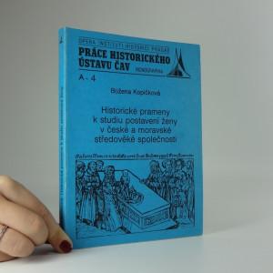 náhled knihy - Historické prameny k studiu postavení ženy v české a moravské středověké společnosti