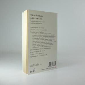 antikvární kniha L'immortalité, 1993
