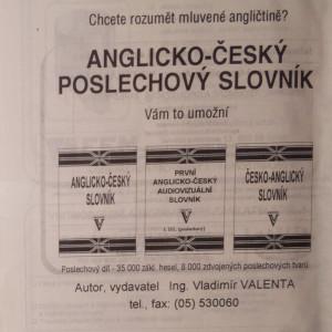 antikvární kniha Česko-anglický slovník, 1945