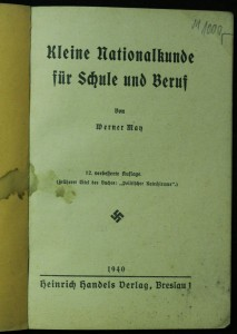 antikvární kniha Kleine nationalkunde fur Schule und Beruf , 1940