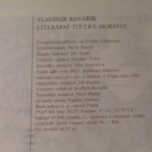 antikvární kniha Literární toulky Moravou : pro čtenáře od 12 let, 1985