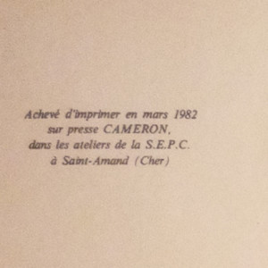 antikvární kniha Le Pain de l'étranger, 1982