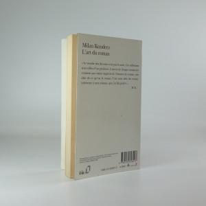 antikvární kniha L'art du roman - essai, 1995