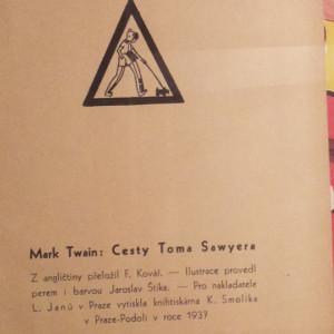 antikvární kniha Cesty Toma Sawyera, 1937
