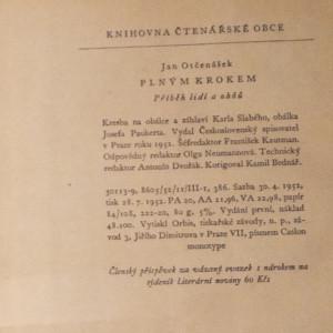 antikvární kniha Plným krokem : příběh lidí a ohňů, 1952