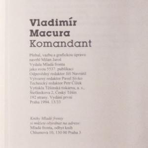 antikvární kniha Komandant, 1994