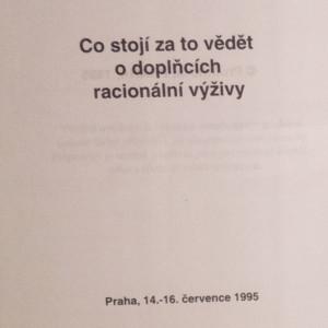 antikvární kniha Co stojí za to vědět o doplňcích racionální výživy, 1995