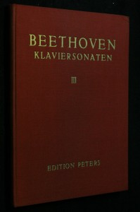 náhled knihy - Beethoven, klaviersonaten III.