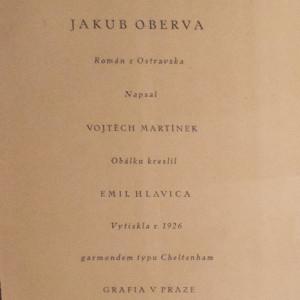 antikvární kniha Jakub Oberva, 1926