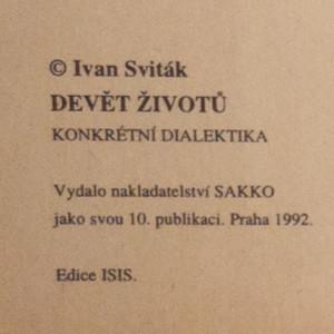 antikvární kniha Devět životů, 1992