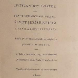 antikvární kniha Život Ježíše Krista v kraji a lidu izraelském, 1935