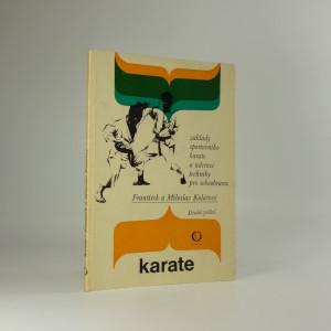 náhled knihy - Karate : základy sportovního karate a úderové techniky pro sebeobranu