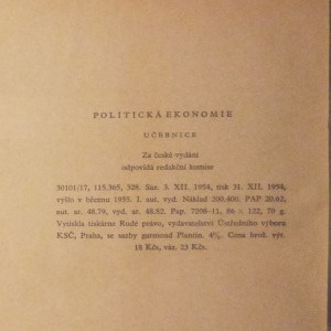 antikvární kniha Politická ekonomie, 1955