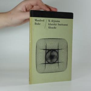 náhled knihy - K dějinám klasické buržoazní filozofie