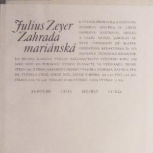 antikvární kniha Zahrada mariánská, 1990