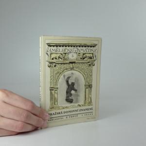 náhled knihy -  Pražská domovní znamení I. (Umělecké památky 5)