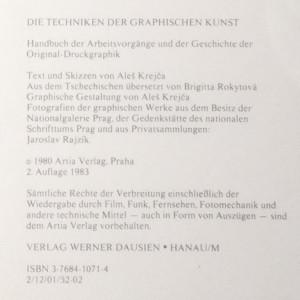 antikvární kniha Die Techniken der Graphischen Kunst, 1980