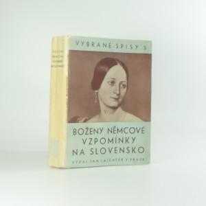 náhled knihy - Boženy Němcové Vzpomínky na Slovensko