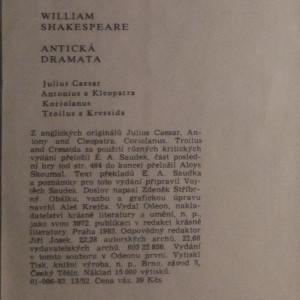 antikvární kniha Antická dramata, 1983
