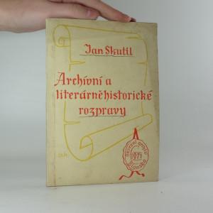 náhled knihy - Archívní a literárněhistorické rozpravy