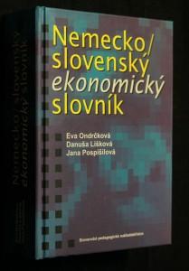 náhled knihy - Nemecko/slovenský ekonomický slovník