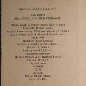 antikvární kniha Bílá místa v našich dějinách?, 1990