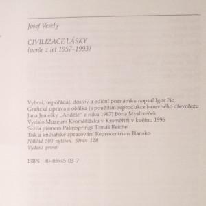 antikvární kniha Civilizace lásky, 1996