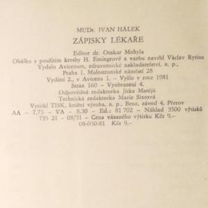 antikvární kniha Zápisky lékaře, 1981