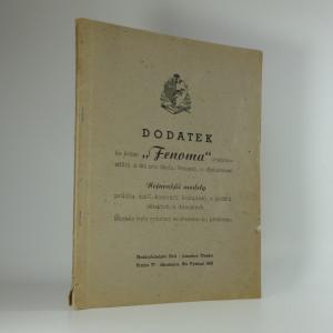 náhled knihy - Fenoma, Dodatek ke knize