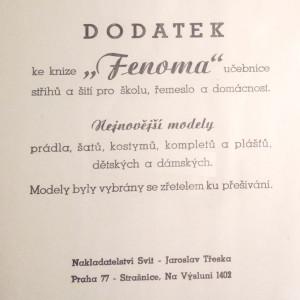 antikvární kniha Fenoma, Dodatek ke knize,