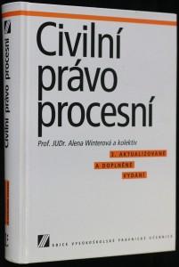 náhled knihy - Civilní právo procesní : vysokoškolská učebnice