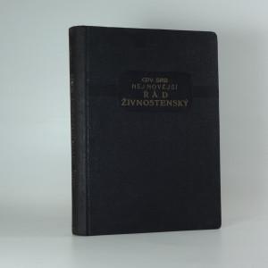 náhled knihy - Nejnovější řád živnostenský s předpisy k němu se vztahujícími