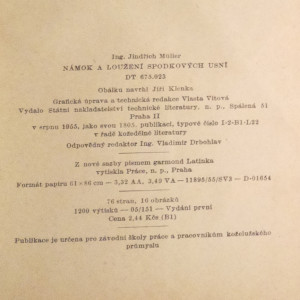 antikvární kniha Námok a loužení spodkových usní, 1955