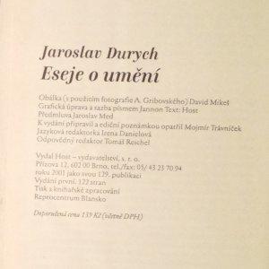 antikvární kniha Eseje o umění, 2001