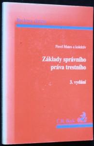 náhled knihy - základy správního práva trestního