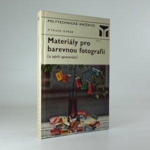 náhled knihy - Materiály pro barevnou fotografii