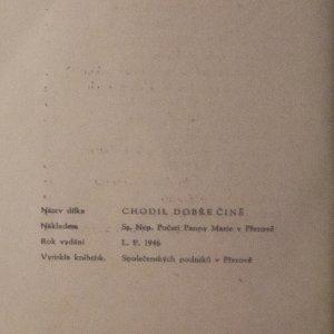 antikvární kniha Chodil dobře čině, 1946