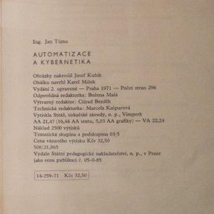 antikvární kniha Automatizace a kybernetika, 1971