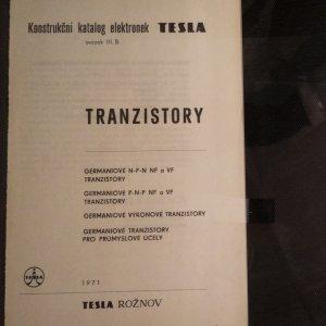 antikvární kniha Konstrukční katalog elekltronek Tesla, svazek III.B : Tranzistory, 1971