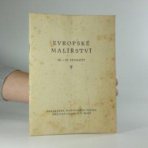 náhled knihy - Evropské malířství 16.-18.století