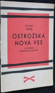 náhled knihy - Vývoj obce Ostrožská Nová Ves v okrese Uherské Hradiště
