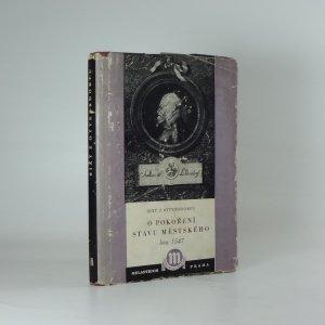 náhled knihy - O pokoření stavu městského léta 1547