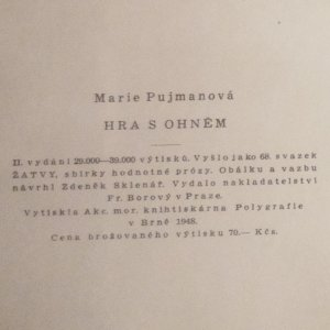antikvární kniha Hra s ohněm, 1948