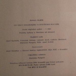 antikvární kniha Co dalo Holešovsko a Bystřicko kultuře. Část 1, Počátky kultury a literatura od obrození, 1980